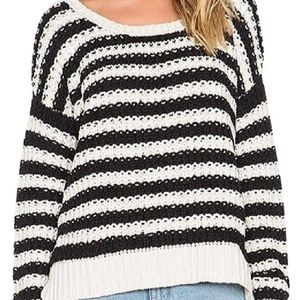 Free People Chunky Knit Striped Sweater Size Small